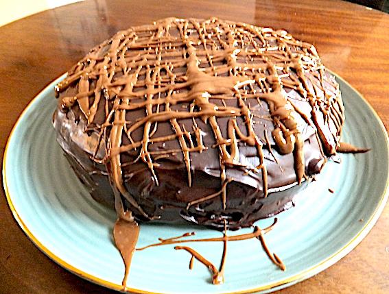 Chokoladekage med kastanjemos