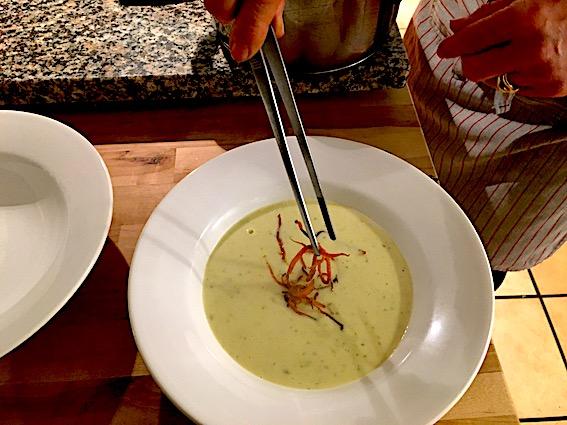 Blomkålsuppe med topping