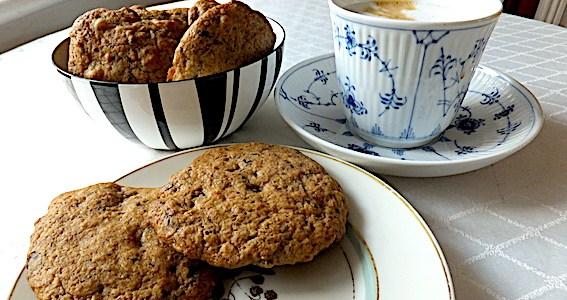 Amarican cookies med nødder og chokolade