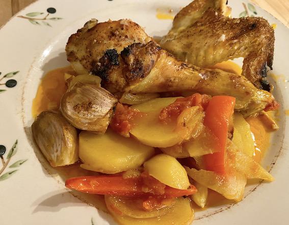Tyrkisk kylling med kartofler