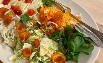 Rosenkålsalat med spidskål