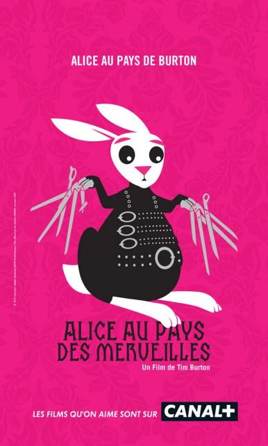 Canal + parodie affiche Alice aux pays des merveilles