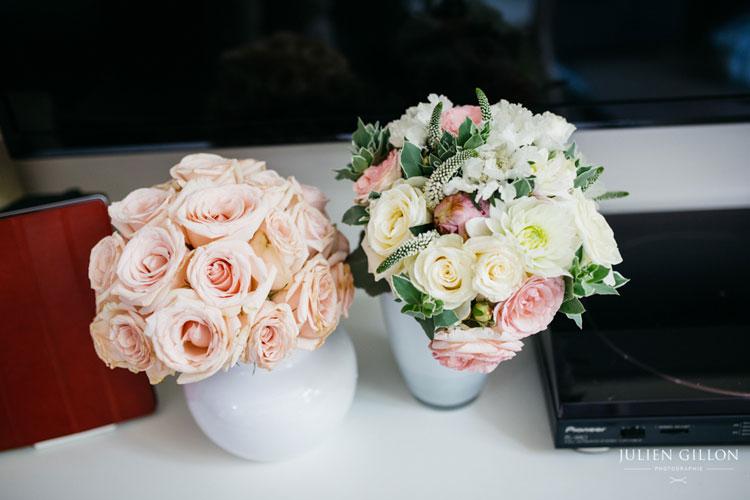 julie mathieu mariage champetre rose poudree reflets fleurs ete mariage wedding paris fleuriste france