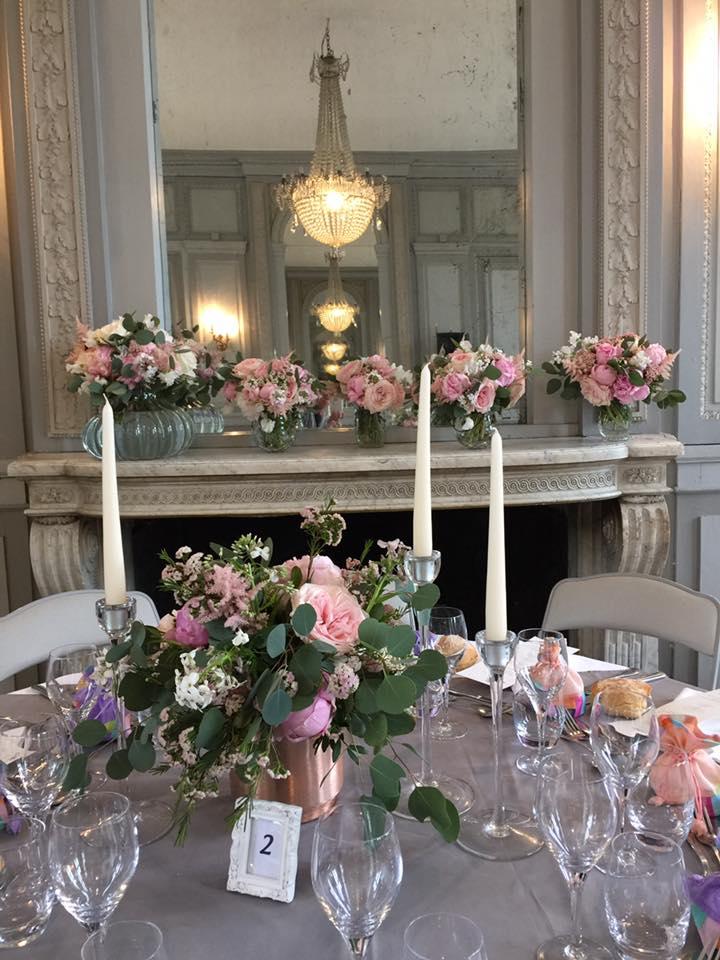 table fleurie mariage reflets fleurs