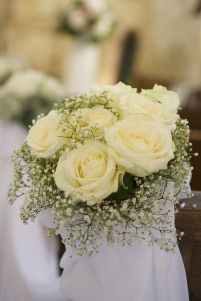 bouquet de banc mariage reflets fleurs