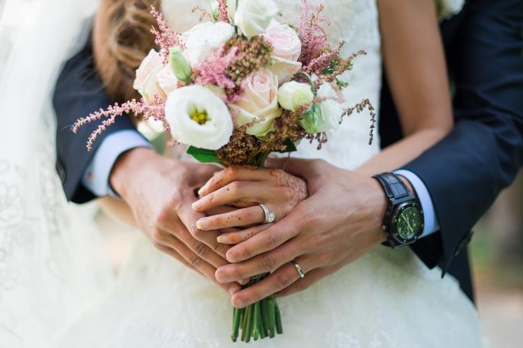 bouquet de mariée reflets fleurs
