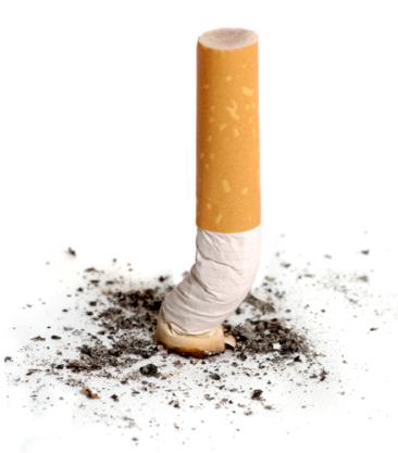 photo d'unee cigarette écrasée