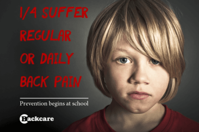 child with daily back pain