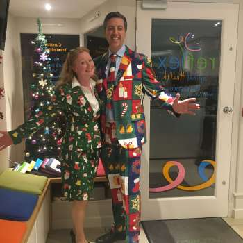 Andy & Laura Green Christmas chiropractors in Caversham Reading Berkshire