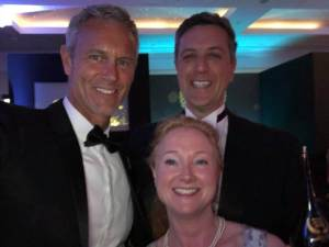 Reading chiropractors Andy Laura Green with olympic swimmer Mark Foster