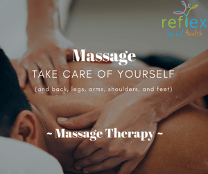 Reading massage therapy at Reflex Spinal Health