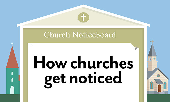 How churches get noticed