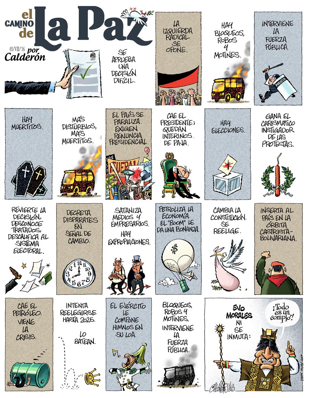 El camino de La Paz - Calderón