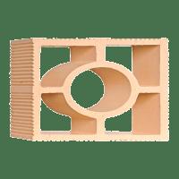 Elemento Vazado Cerâmico Palha Impermeabilizado Diagonal Redondo