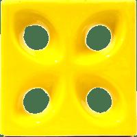 Cobogós Elementos Vazados Esmaltados Modelo Folha Mini Vitrine
