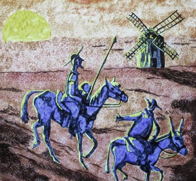 azulejo artistico quijote