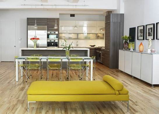 modern-kitchen-with-open-floor-plan-in-grey-and-yellow