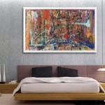 Glass Wall Art Abstract Clocks Craig Anthony Reformations