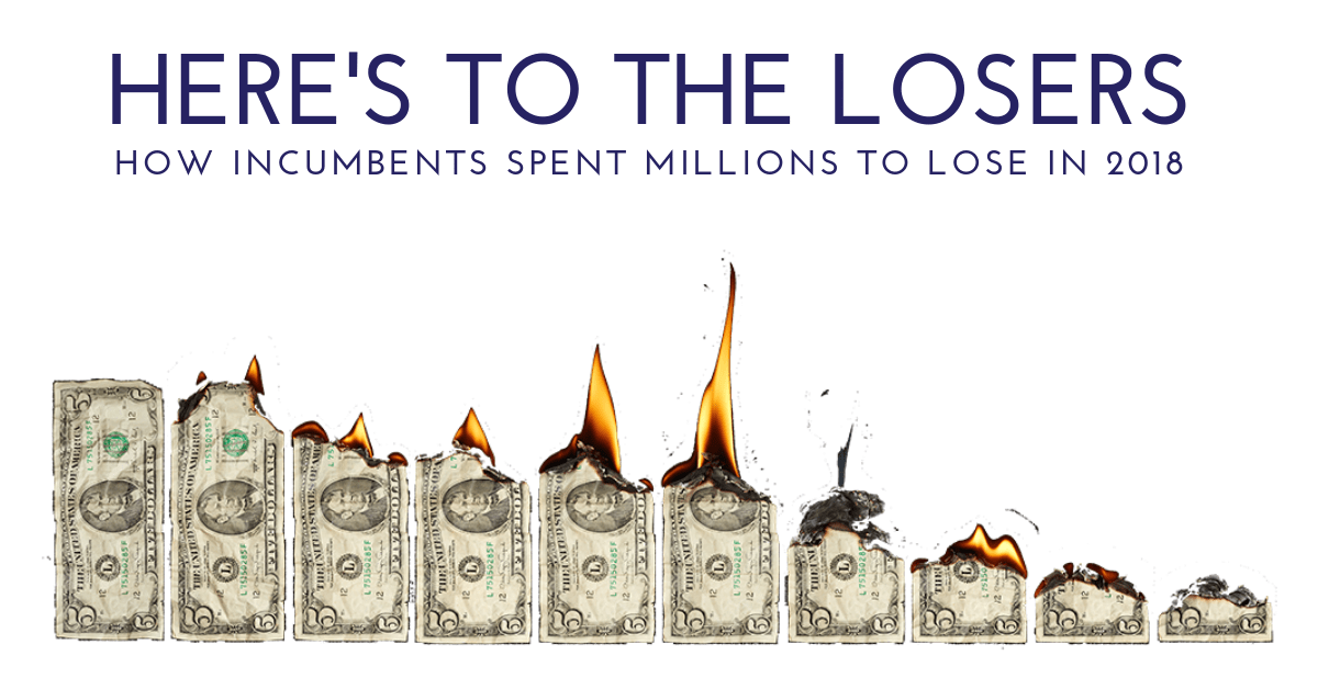 Here's to the Losers: How Incumbents Spent Millions to Lose in 2018