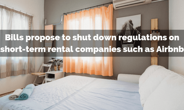 Bills propose to shut down regulations on short-term rental companies such as Airbnb