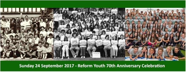 Reform Youth 70th Anniversary Celebrations