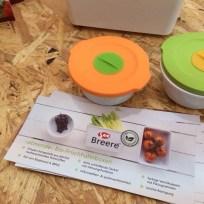 Tolle Idee: luftdurchlässige Frischhalteboxen aus jährlich nachwachsenden Rohstoffen – die Marke Breere oder Bee ist im Netz schwer zu finden.