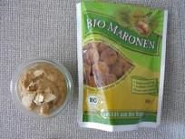 Vorgekochte Kastanien gibt es auch in Bio-Qualität - und sind schnell püriert. Sehr praktisch