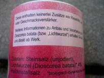 Die im Steinsalz von Erdmann Hauser verwendete Lichtwurzel wird auch Lichtyams genannt.