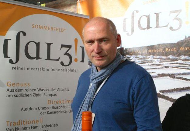 Überzeugt mit seinem Slowfood-Salz-Konzept - Herr Sommerfeld