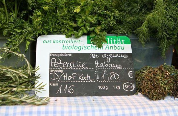 Aromatische Kräuter und Gemüse aus eigenem Anbau - dafür ist Hof Koch berühmt