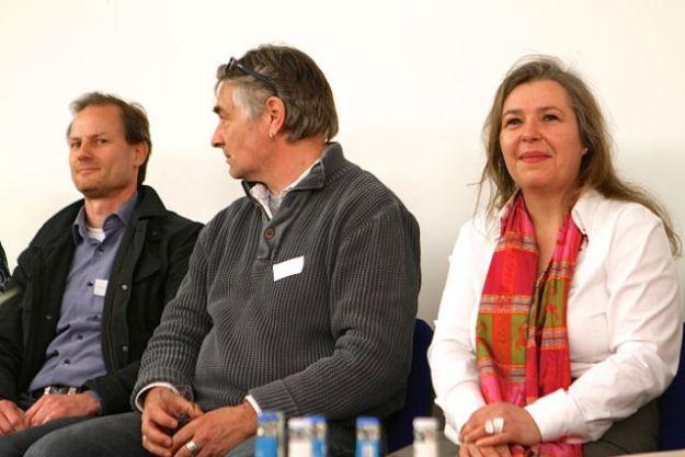 Drucker Thomas Lyer und Norbert Reinermann, Tanja Tegel, Meierei Horst eG