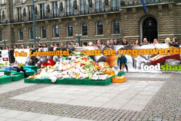 Foodsharing Flashmob 9.Mai 2015, Hamburger Rathausmarkt