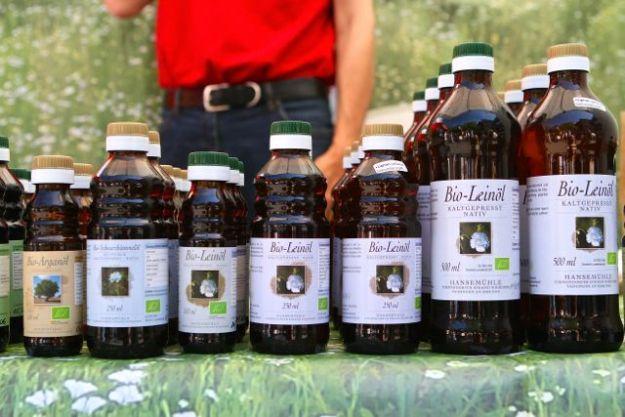 Frisch gepresstes Leinöl und andere gesunde Sachen von der Hanse Mühle