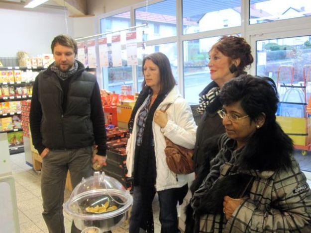 Teil eines Frankenbach-Workshops: der Supermarkt-Besuch