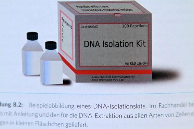 DNA Isolation Kit, S. 102 von Rüdiger Trojoks Buch »Bio Hacking«, pixabay, CCO public domain