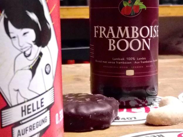 Ein fruchtiges Lambic harmoniert perfekt zu Schokolebkuchen