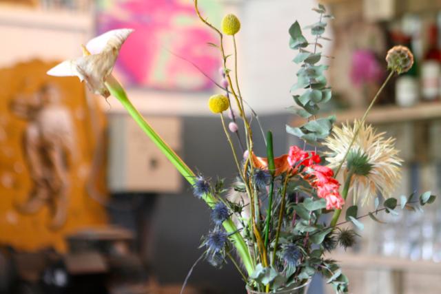 Blumenstrauß von der Eröffnungsparty
