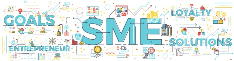 Montage representing small business marketing plan