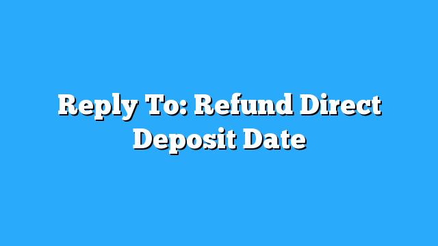 Tax Act Online Refund Dates
