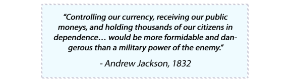 Quote from Andrew Jackson, 1832