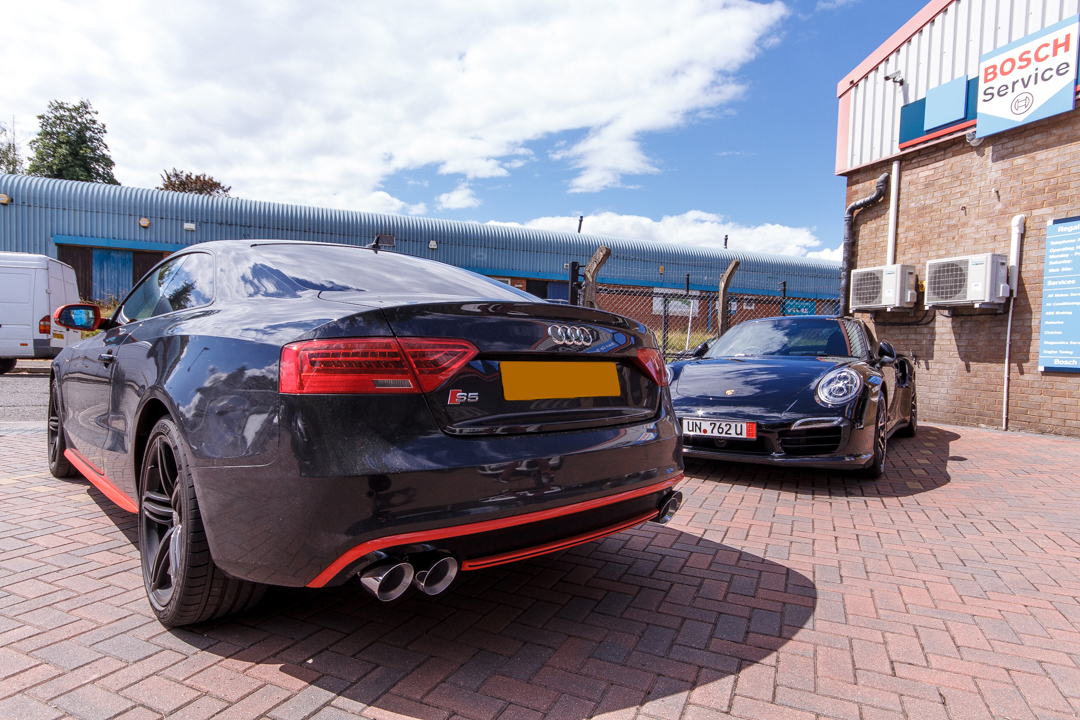 UK B8 5 Audi S5 3 0T, AWE Tuning Track Edition Exhaust