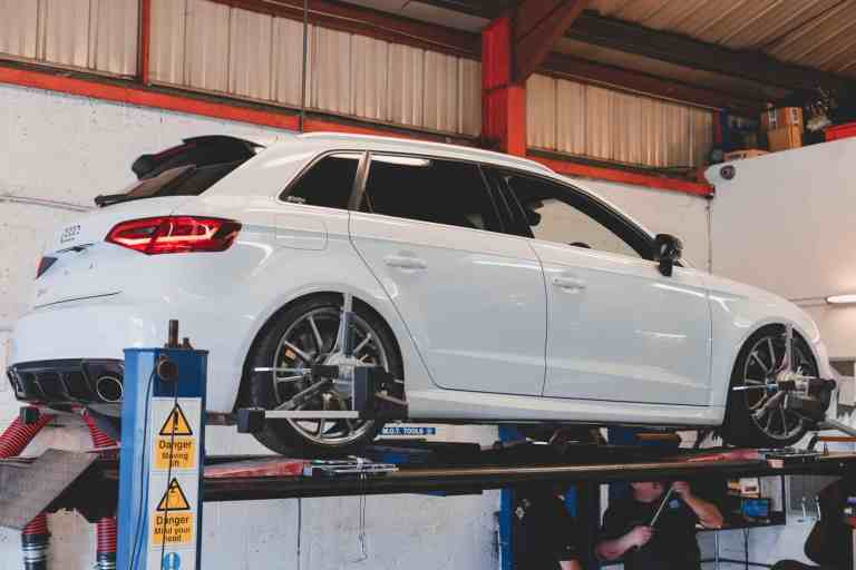 Audi RS3 wheel alignment and fast road setup
