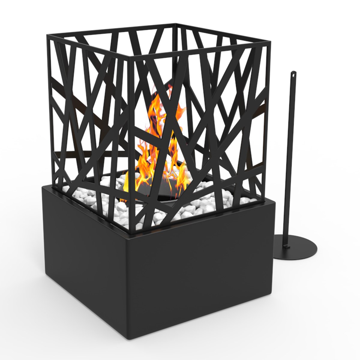 Bruno Ventless Tabletop Portable Bio Ethanol Fireplace In