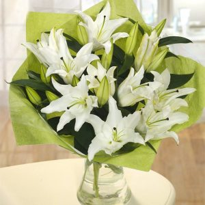 An arrangement of lilies.