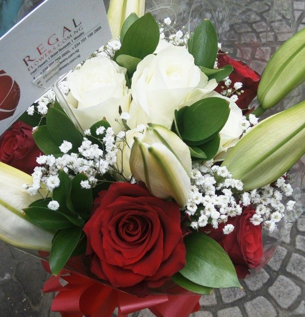 Bridal Bouquet 118 Calligraphy By Regal Red Roses White Roses