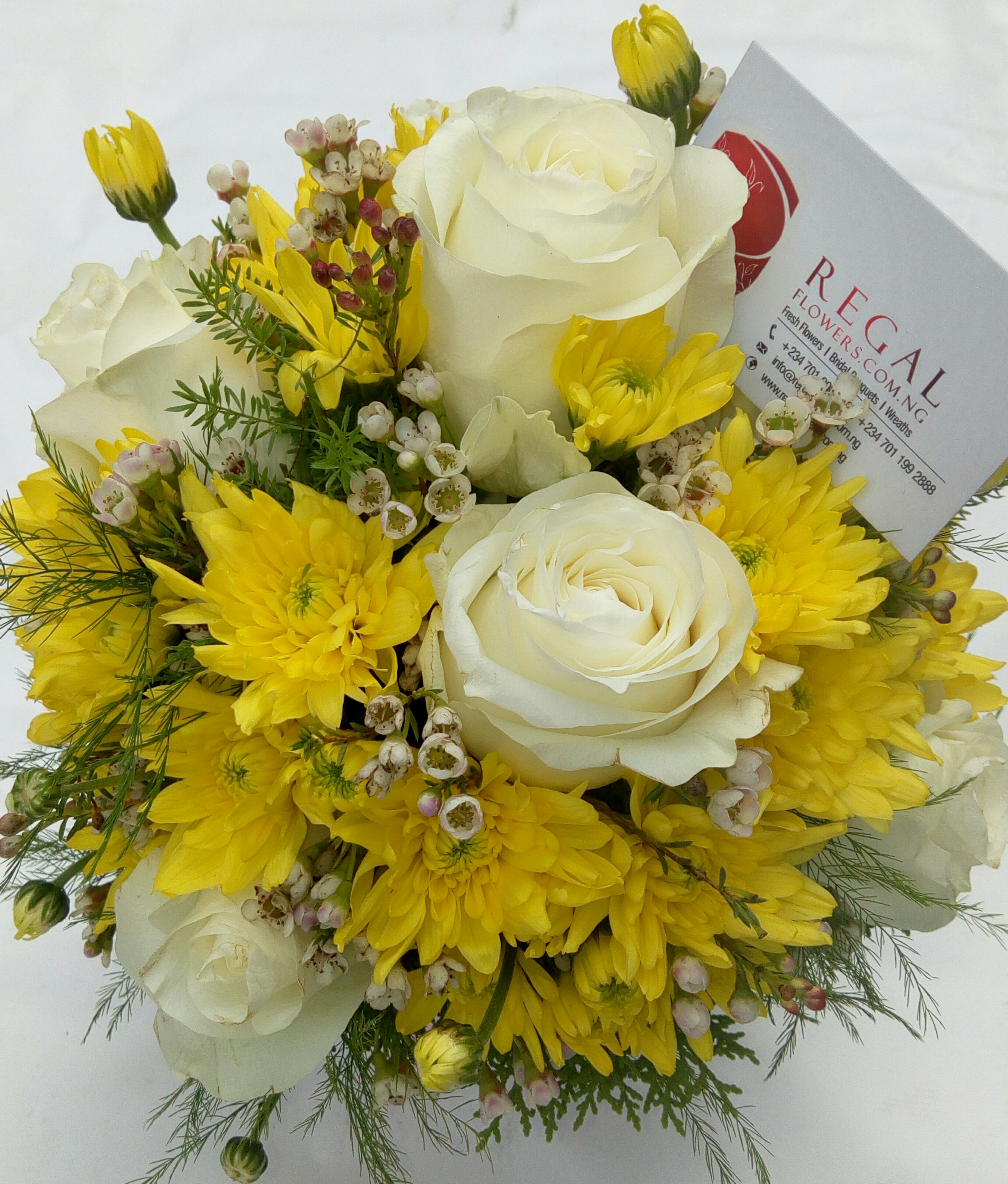 Dune Roses Yellow Chrysanthemum And Wax Statice Or Million Star