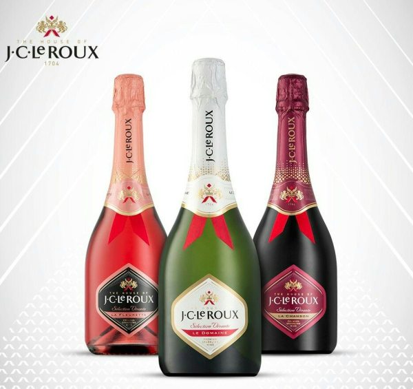 JC Le Roux Red Sparkling, White or Luxury Rose Wine 750ml. . . more