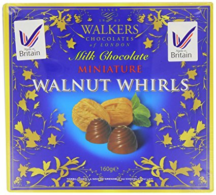 Walkers milk chocolate walnut whirls 160g