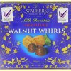 Walkers milk chocolate walnut whirls 160g