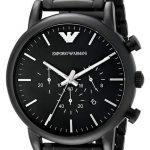 orologio armani nero da uomo
